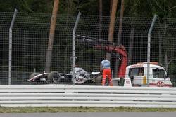 The McLaren of Kimi Raikkonen on a transporter