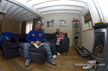 Marco Melandri at home in Derby