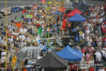 Crowd in pit area