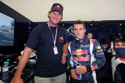 Christian Klien with wind surfing champion Björn Dunkerbeck