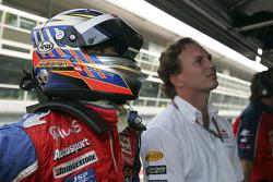 Heikki Kovalainen and Christian Horner