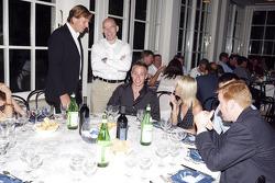David Sears with Jock Clear of the BAR Honda F1 Team and Adam Carroll