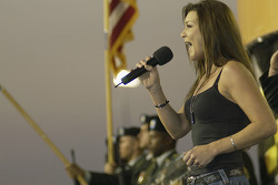 Musician Gretchen Wilson sings the National Anthem