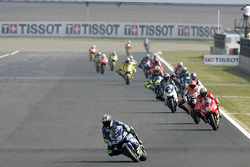 Marco Melandri leads the field