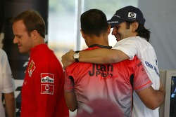 FIA press conference: Rubens Barrichello, Juan Pablo Montoya and Antonio Pizzonia
