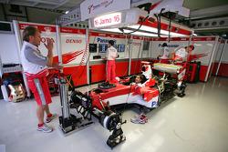 Toyota garage area