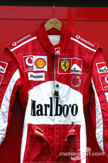 Driver suit of Michael Schumacher