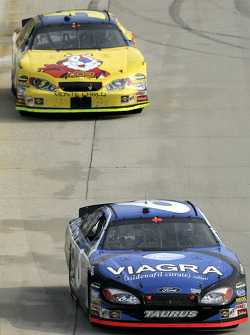 Mark Martin and Kyle Busch