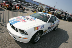 The Ford Mustang pace car for the UAW-Ford 500