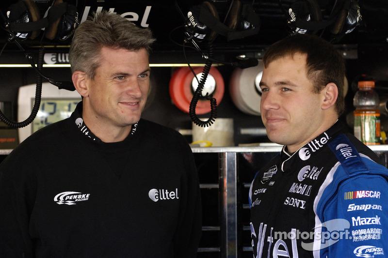Crew chief Matt Borland and Ryan Newman