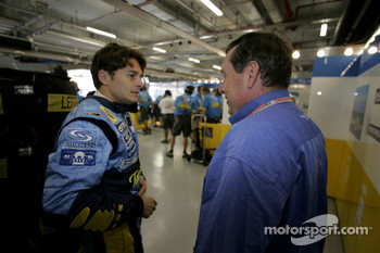 Giancarlo Fisichella and Patrick Faure