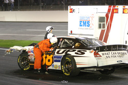 Safety crew helps Dale Jarrett out