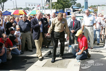 Rusty Wallace Court of Legends induction: Rusty Wallace imprints his right foot