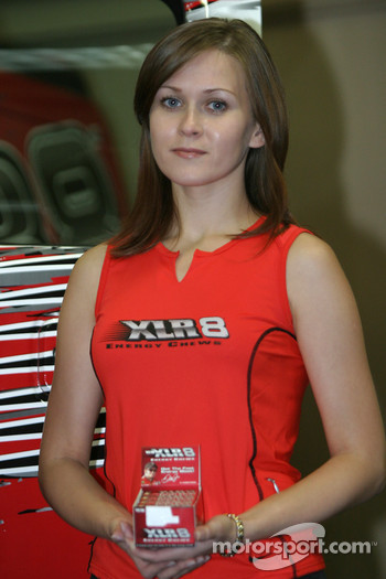 XLR8 press conference: a lovely XLR8 girl
