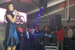 Singer Carla Vallet performs at the Audi VIP lounge