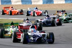 Start: Alexandre Premat leads Nelson A. Piquet