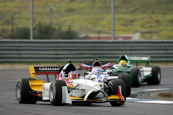 Adrian Sutil leads Robbie Kerr and Ralph Firman
