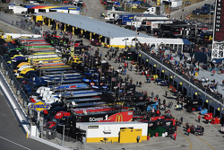 The NASCAR Cup garage