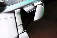 Mercedes AMG F1 W06 sidepod detail