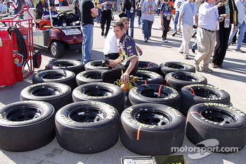 Getting the tires ready