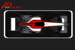 The new logo and livery for the Midland F1 Racing team