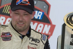 Victory lane: race winner Todd Bodine celebrates