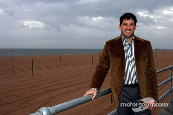 Tony Stewart the 2005 NASCAR Nextel Cup Series Champion visits Staten Island