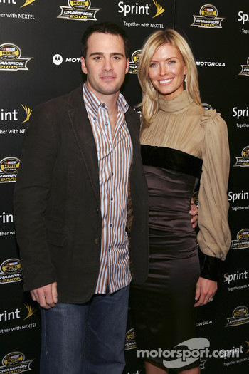 Jimmie Johnson arrives at the 2005 NASCAR Nextel Cup Series Championship Party At Marquee