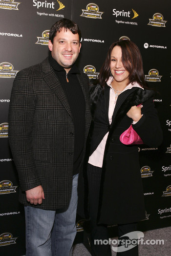 Tony Stewart arrives at the 2005 NASCAR Nextel Cup Series Championship Party At Marquee