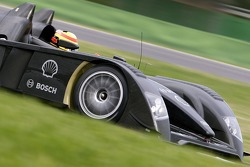 Frank Biela tests the new Audi R10