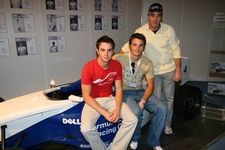 Nigel Mansell with his two sons Greg and Leo