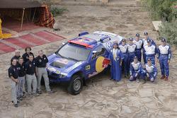 Volkswagen Motorsport: presentation in Morocco with Jutta Kleinschmidt, Fabrizia Pons, Mark Miller, Dirk von Zitzewitz, Bruno Saby, Michel Périn, Carlos Sainz, Andreas Schulz, Giniel De Villiers, Tina Thorner and Volkswagen Motorsport team members