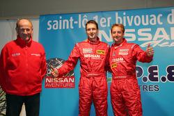 Team Nissan Dessoude presentation: André Dessoude, Sylvain Poncet and Benoit Rousselot