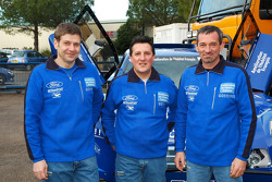 Team Gauloises Schlesser: co-drivers François Borsotto, William Alcaraz and Arnaud Debron