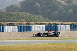 David Coulthard in the gravel