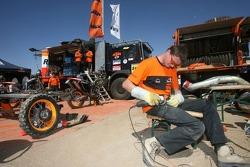 Repsol KTM team member at work