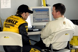 Matt Kenseth with chief Chip Bolin