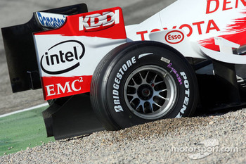 Jarno Trulli in the gravel