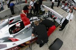 Rinaldo Capello sits in the Audi R10