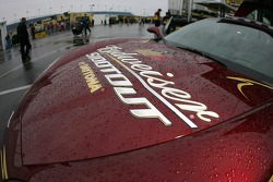 Rain drops on the Budweiser Shootout Corvette pace car