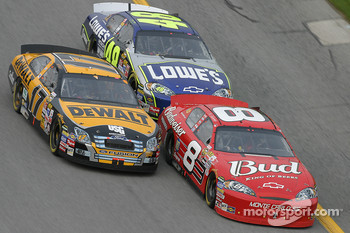 Dale Earnhardt Jr., Matt Kenseth and Jimmie Johnson