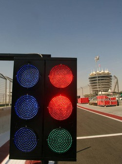 All the lights are on in the pitlane