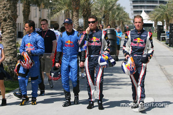 Vitantonio Liuzzi, Scott Speed, David Coulthard and Robert Doornbos