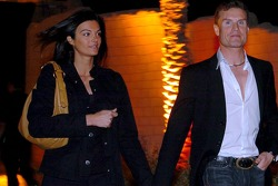 David Coulthard with new girlfriend, TF1 reporter Karen Minier