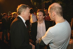 Max Mosley, Christian Horner and Adrian Newey