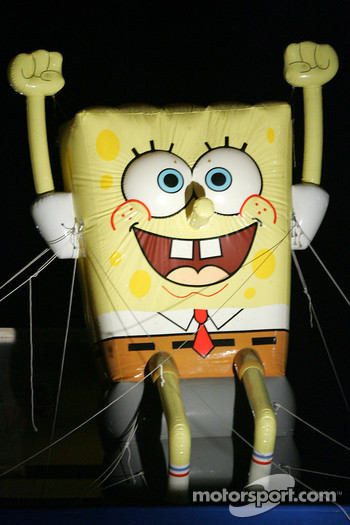 Spongebob happy to see the start of the night session