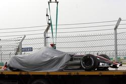 The car of Kimi Raikkonen