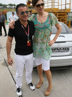 Jean Alesi and Slavica Ecclestone