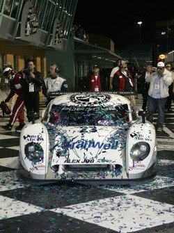 Race winner Mike Rockenfeller enters victory lane