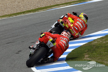 Toni Elias and Marco Melandri